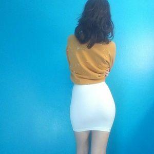 c6d1bb4ae American Apparel Skirts - American Apparel white ponte mini skirt